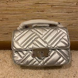 Michael Kors Peyton MD Lambskin Leather silver